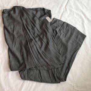 New NATORI $180 JOY Kimono Sleeve Tunic Pajama PJ Set in Black Small or Medium